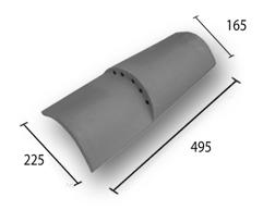 Вентиляционная черепица Curved 50